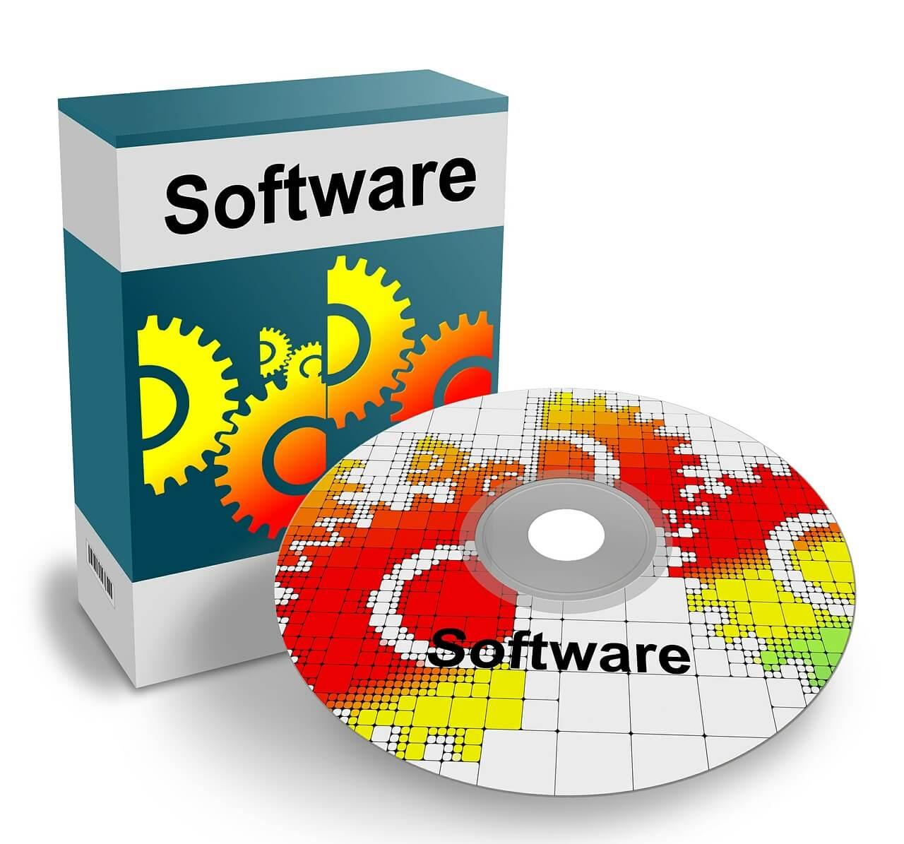 Software-Schachtel und CD