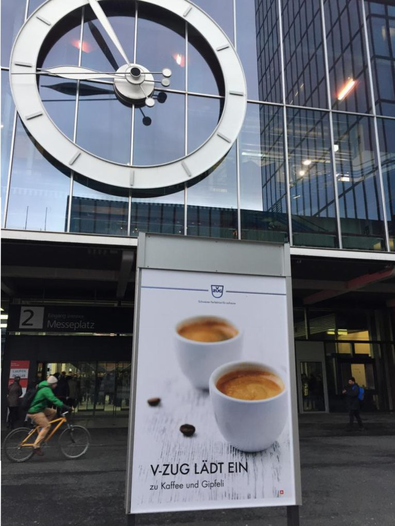 Swissbau 2018 Eingang Halle 2